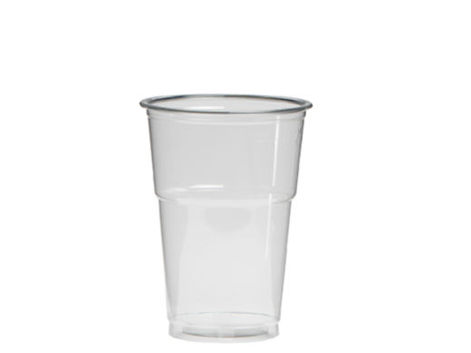 Bierglas PET 250/300ml Ø78mm transparant